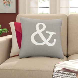 e669c9e118ee Yahya Ampersand Cotton Throw Pillow Cover