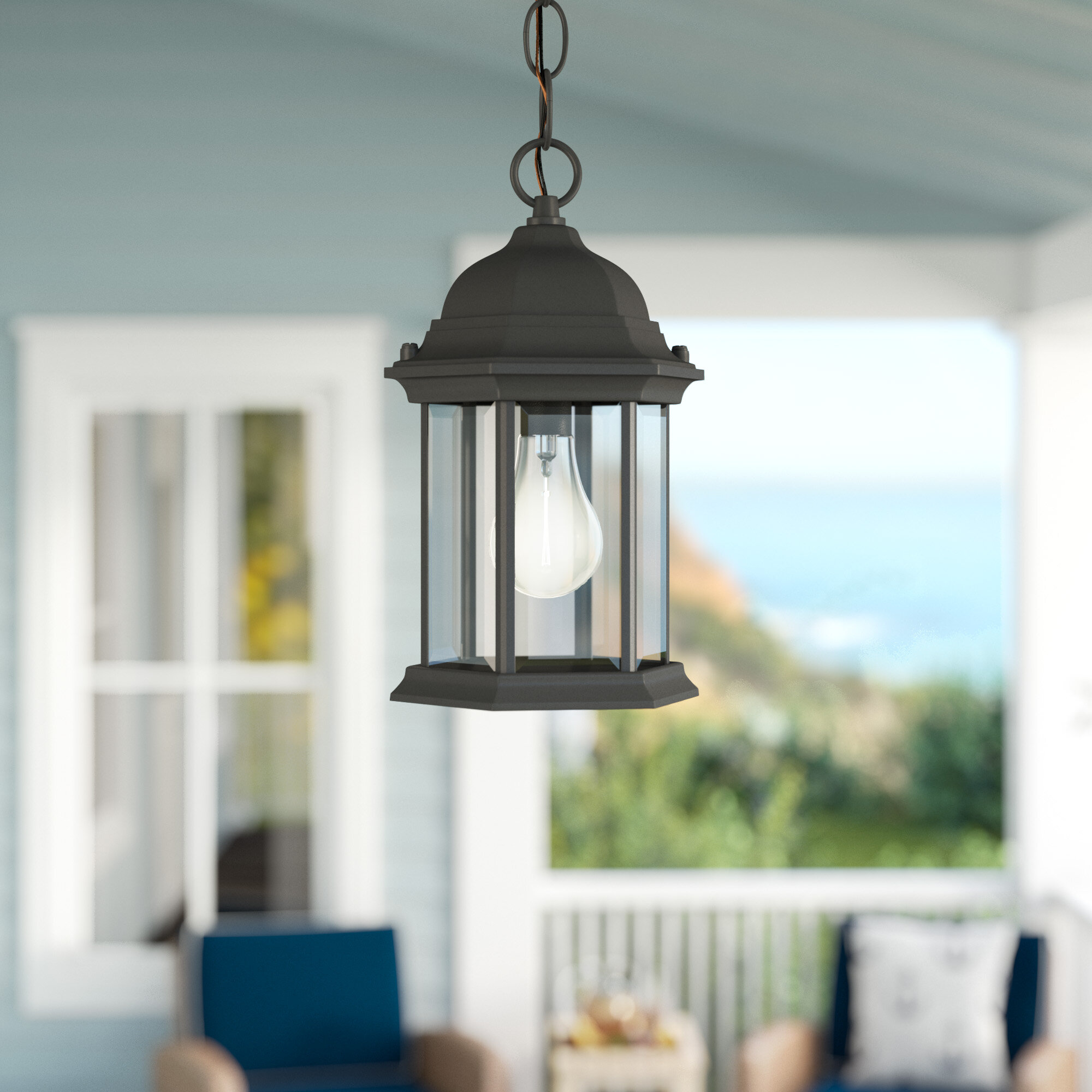 Breakwater bay frederica 1 light outdoor hanging lantern reviews wayfair
