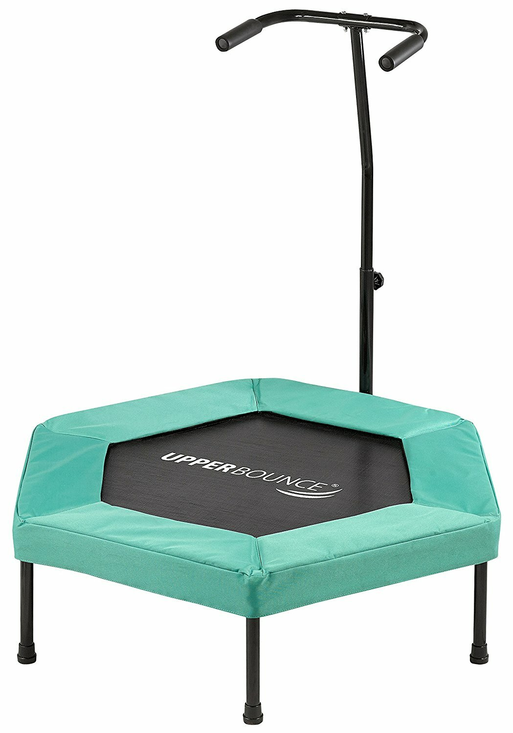 upper bounce fitness 3 hexagonal mini trampoline with bungee cord