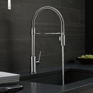 Delta Trinsic Single Handle Pull Down Kitchen Faucet with Spring Spout