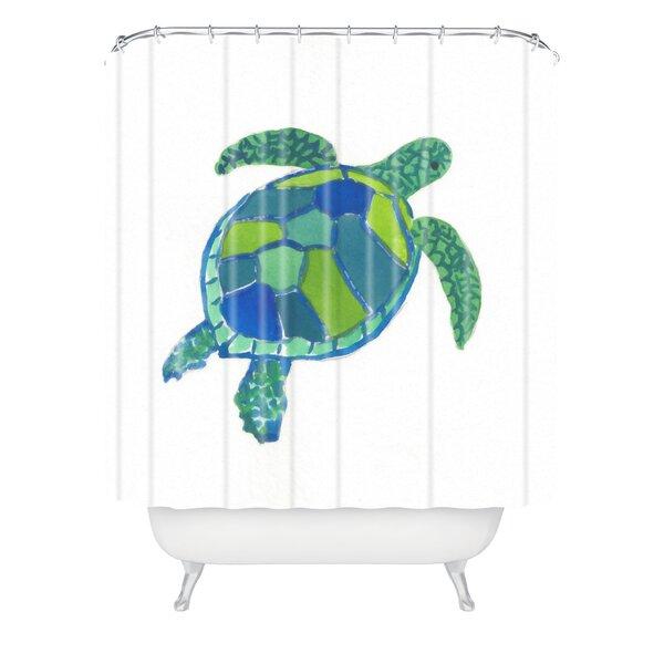 East Urban Home Sea Turtle Shower Curtain