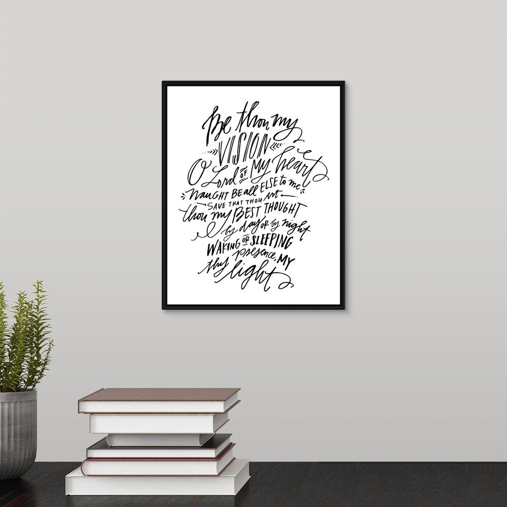 'Be Thou My Vision' Textual Art Print on Canvas