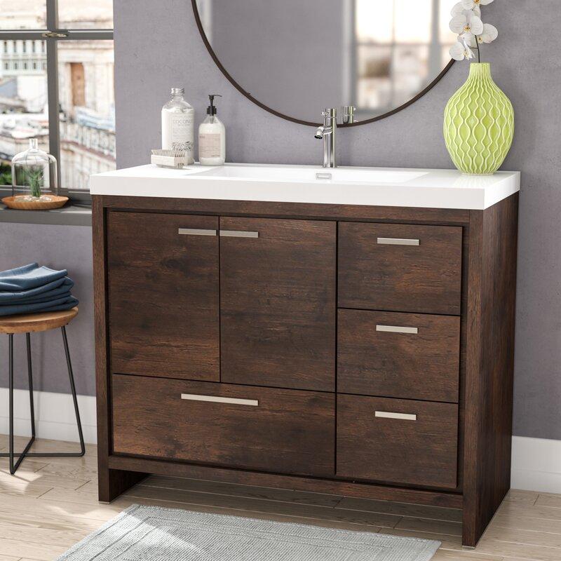 Langley Street Almendarez Free Standing Modern Rectangular - Modern free standing bathroom vanities
