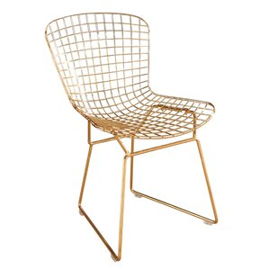 Brucie Iron Side Chair by Willa Arlo Interiors