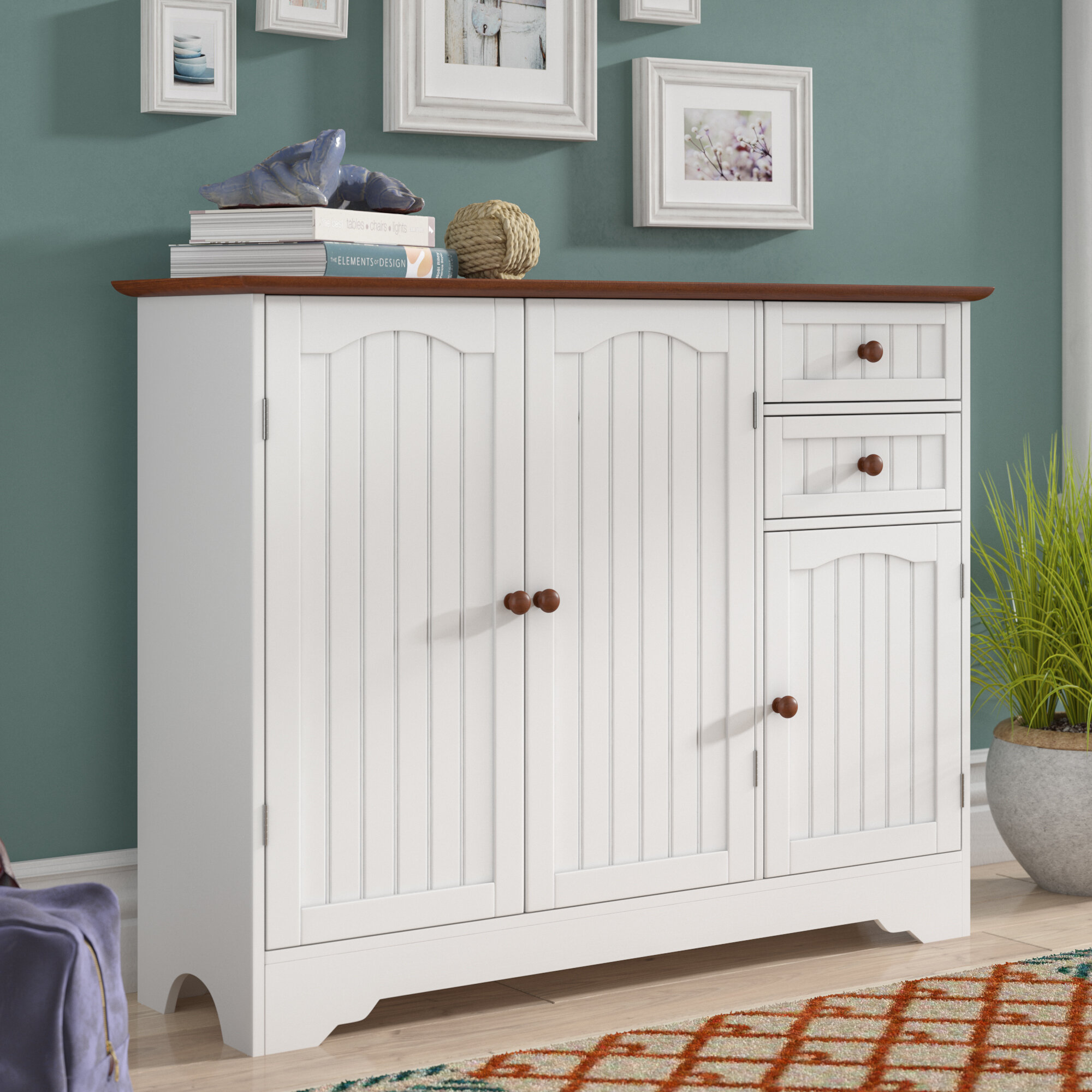 Beachcrest Home Giada Wood 3 Door Accent Cabinet Reviews Wayfair