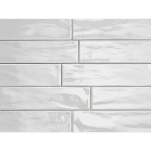 Organic Brick 3 X 12 Porcelain Subway Tile In Ice Shiny