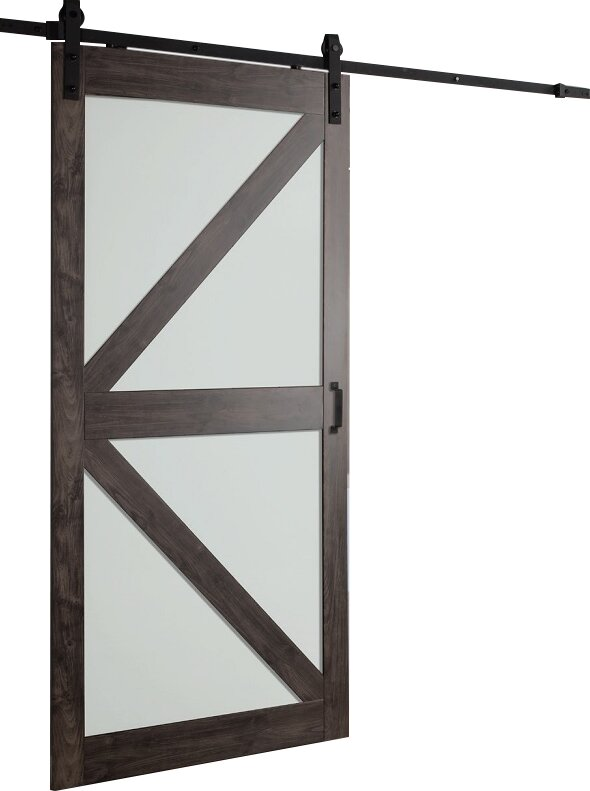 Erias Home Designs Continental Frosted Glass 1 Panel
