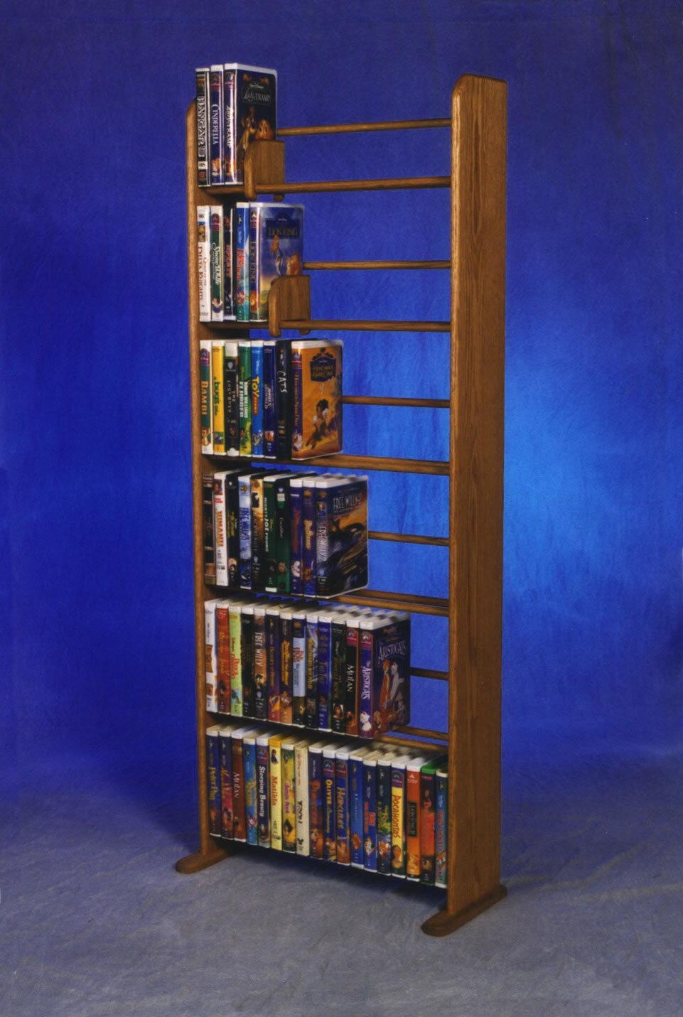 Wood Shed Delux VHS Dowel Multimedia Storage Rack