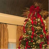 40558666ba5 Image of Hinged 12  Green Fir Artificial Christmas Tree with 1500 Clear  Lights in user