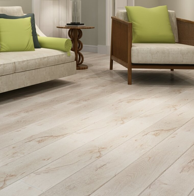 Dekorman Country 4785 X 496 X 12mm Laminate Flooring In White