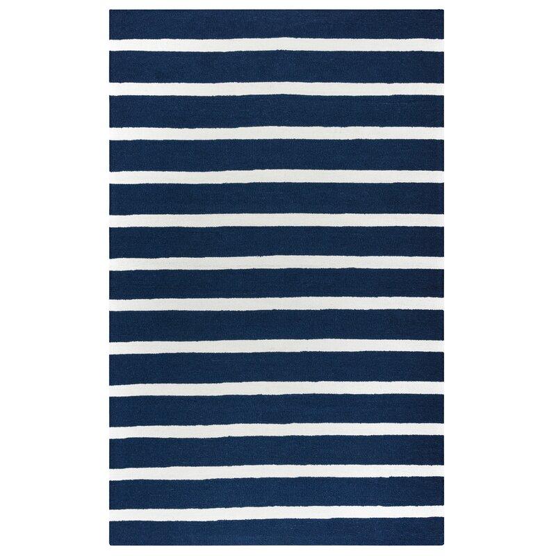 Beachcrest Home Lyndon Hand-Tufted Indigo Indoor/Outdoor Area Rug  Size: Rectangle 9 x 12