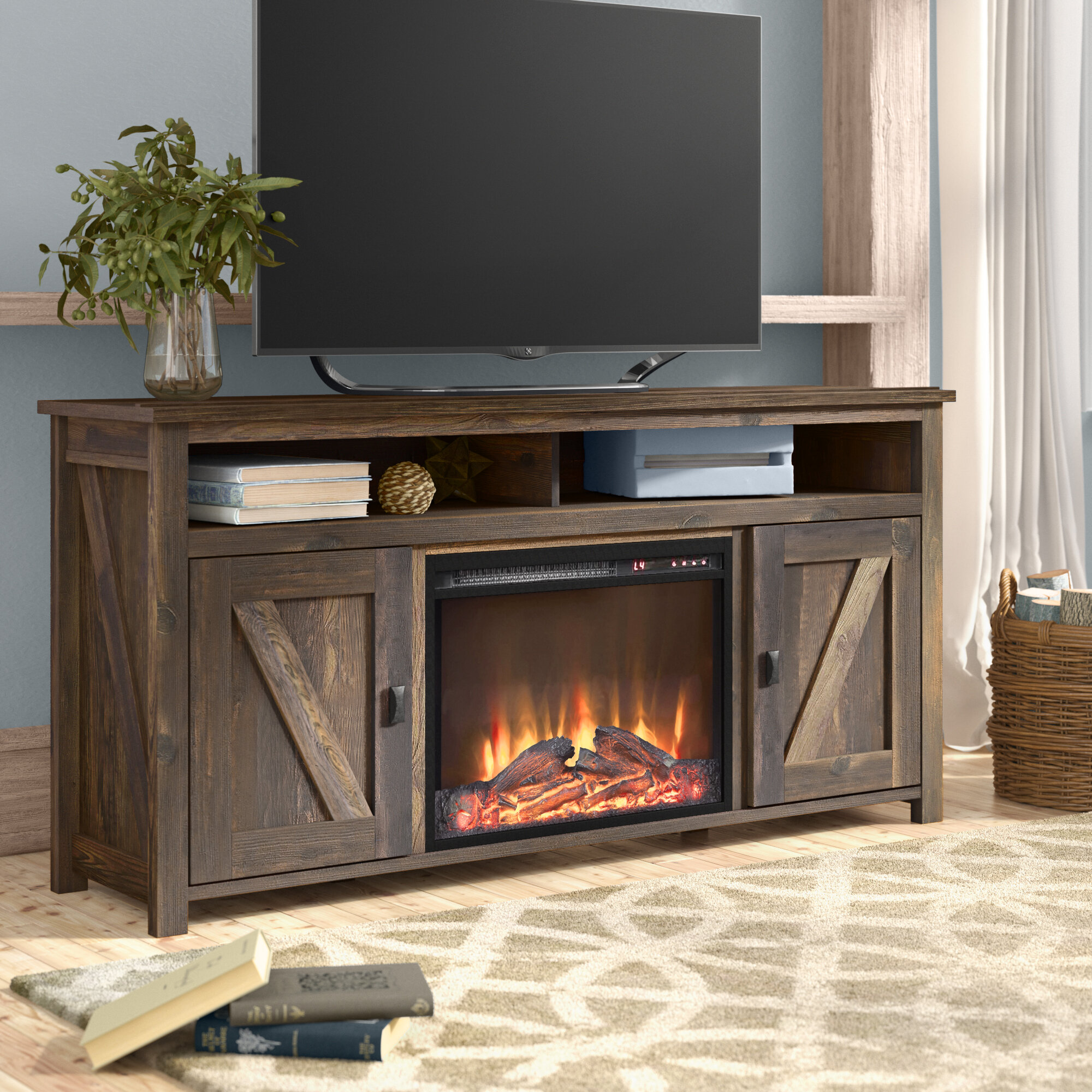 Mistana Whittier Tv Stand For Tvs Up To 60 With Fireplace Reviews