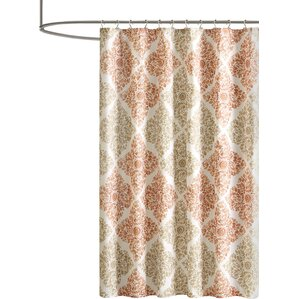 brown and orange shower curtain. Frederica Shower Curtain Orange Curtains You ll Love  Wayfair
