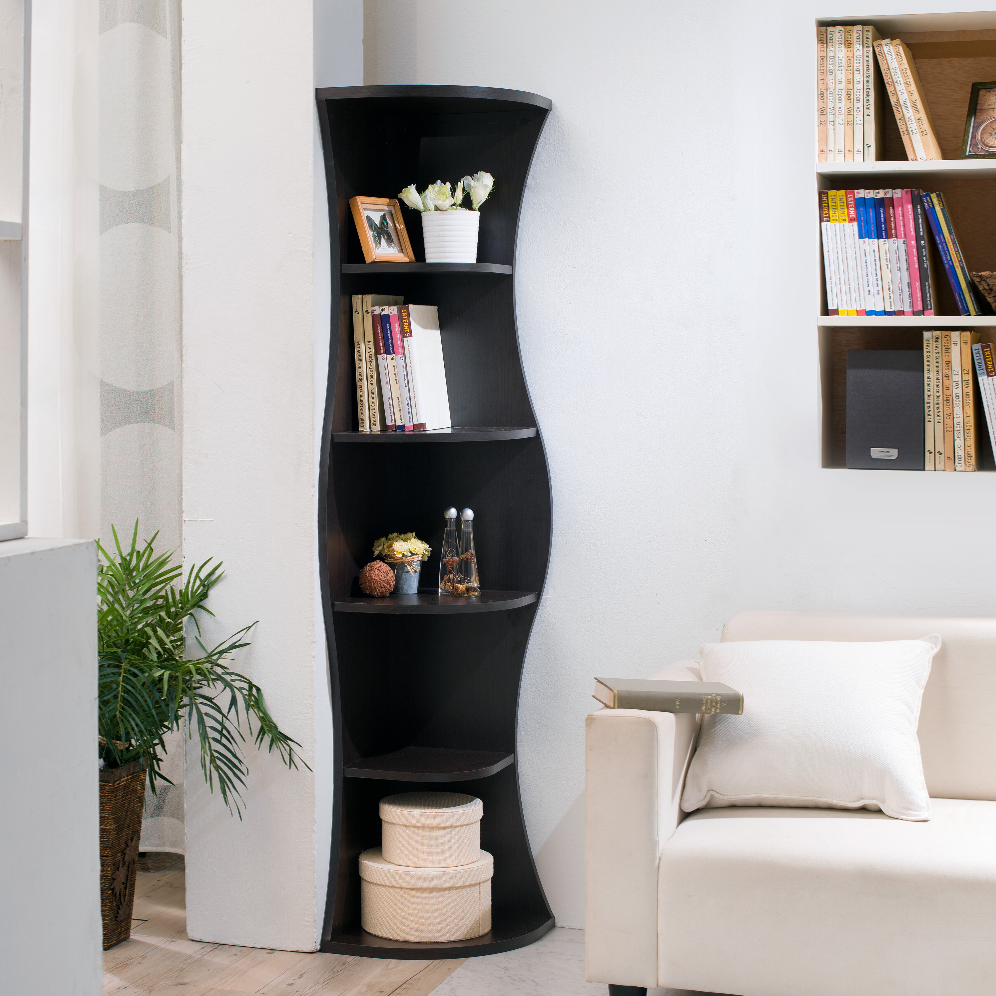 Hokku Designs Corner Unit Bookcase & Reviews | Wayfair