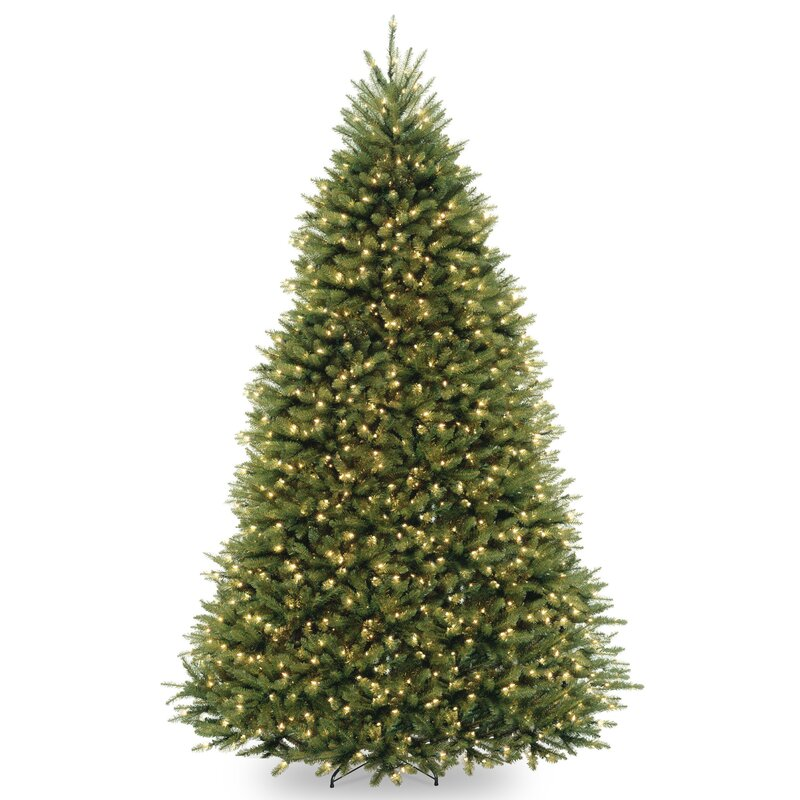 Loon Peak Fir 9' Hinged Tree With 900 Clear Lights Reviews Wayfair