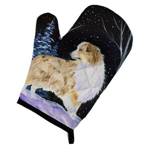 Starry Night Australian Shepherd Oven Mitt