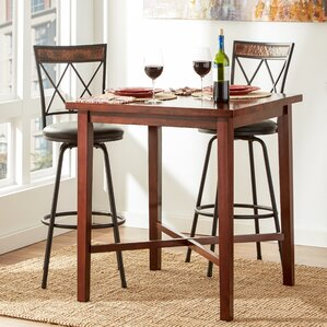 timberlake square wood pub table - Bistro Table Sets