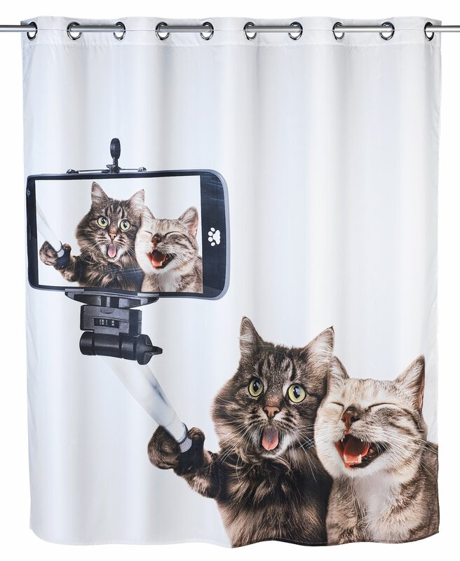 Selfie Cat Shower Curtain