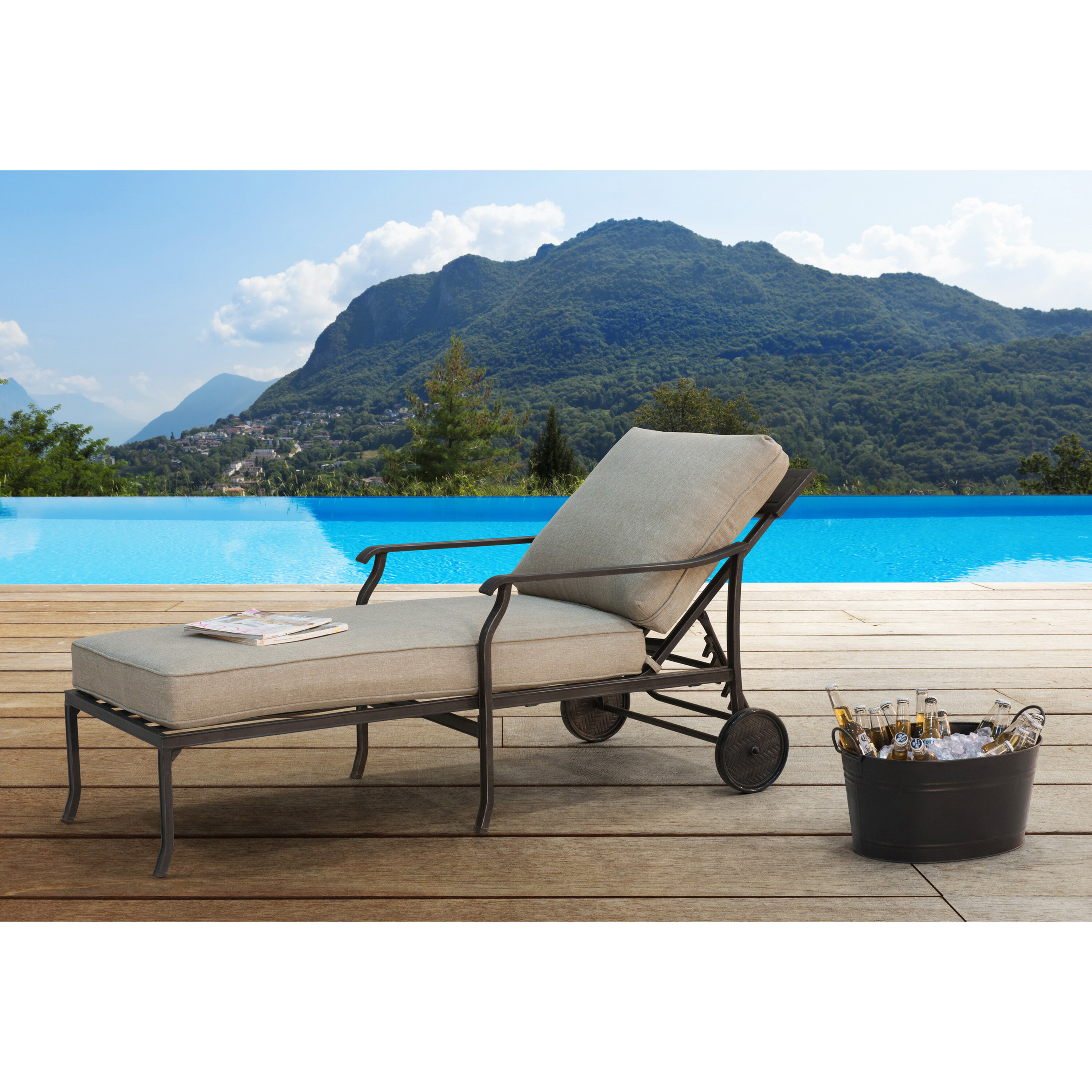 Strange Williston Forge Beeson Chaise Lounge With Cushion Ncnpc Chair Design For Home Ncnpcorg