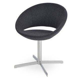 Crescent Swivel Papasan Chair