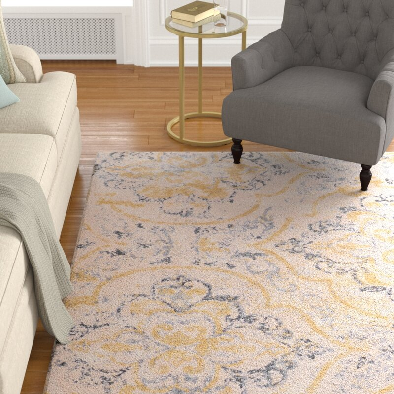 Alcott Hill Zanesville Ivory Yellow Area Rug Amp Reviews