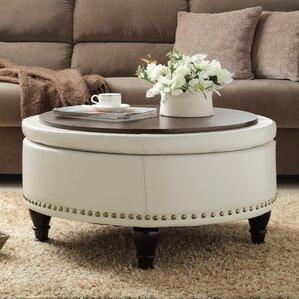 living room table with storage. Ellen Bonded Leather Storage Ottoman Ottomans  Poufs Wayfair