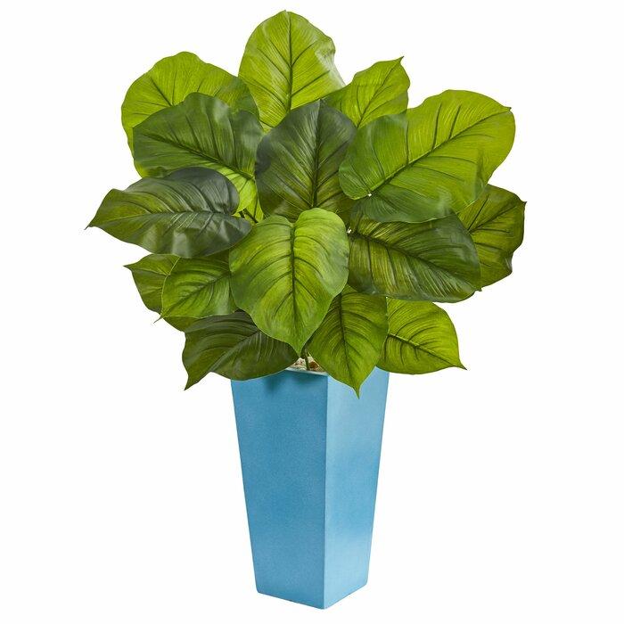 86d31135de4 Latitude Run Leaf Artificial Floor Philodendron Plant in Planter ...