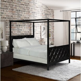 Albritton Premium Queen Upholstered Canopy Bed