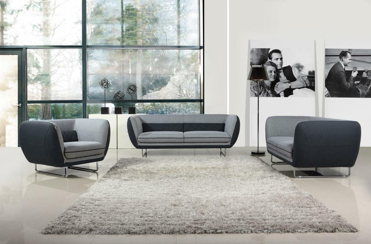 Wade Logan Alsatia 3 Piece Living Room Set & Reviews | Wayfair