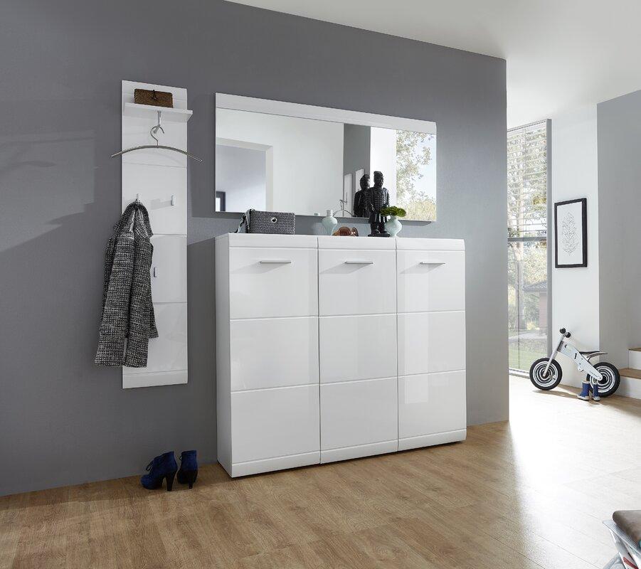 varick gallery 36 pair shoe cupboard garcia reviews. Black Bedroom Furniture Sets. Home Design Ideas