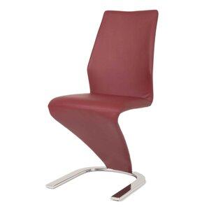Saldivar Genuine Leather Upholstered Dining Chair (Set of 2) by Brayden Studio
