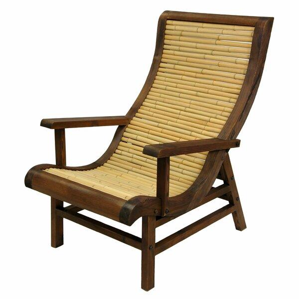 Oriental Furniture Curved Japanese Bamboo Sun Chair U0026 Reviews   Wayfair