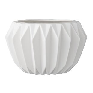 Ceramic planters youll love trenton fluted ceramic pot planter mightylinksfo Choice Image
