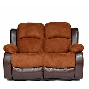 Traditional 2 Tone Reclining Loveseat by Mad..