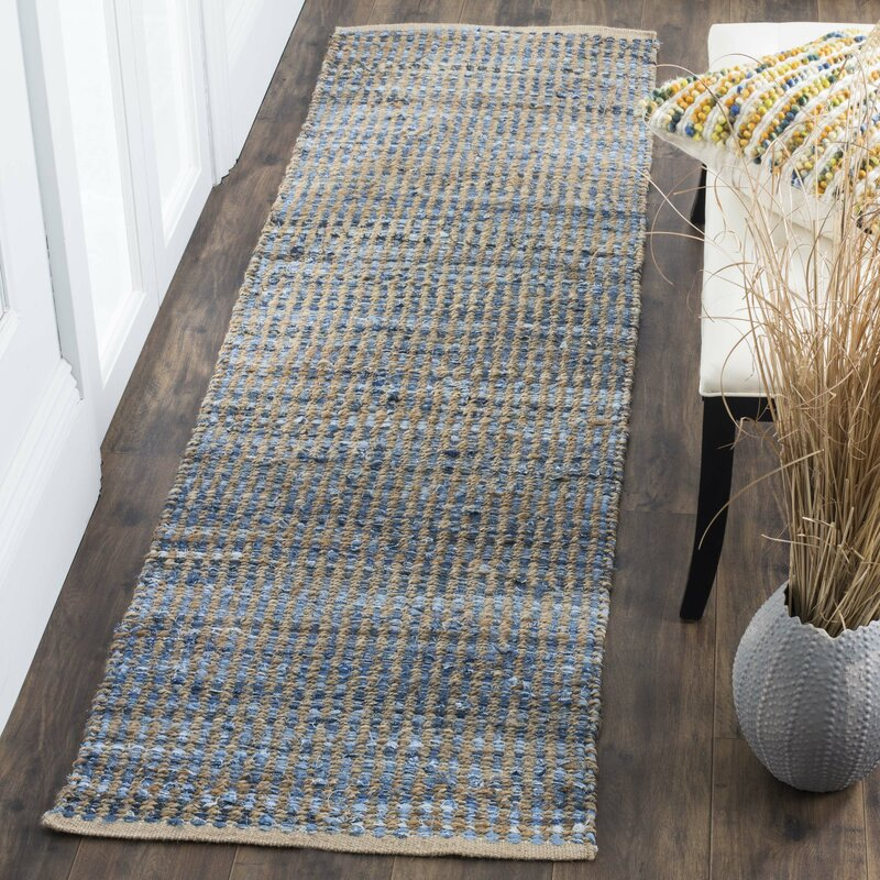 Gilchrist Hand Woven Natural Blue Area Rug Amp Reviews