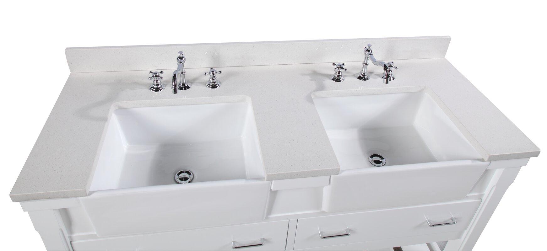 """KBC Charlotte 60"""" Double Bathroom Vanity Set & Reviews ..."""