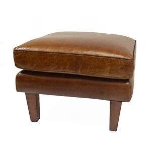Distressed Leather Ottomans Poufs Youll Love Wayfair