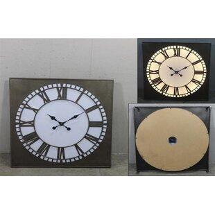 Light up wall clock wayfair oversized arinze square big ben style light up wall clock aloadofball Images