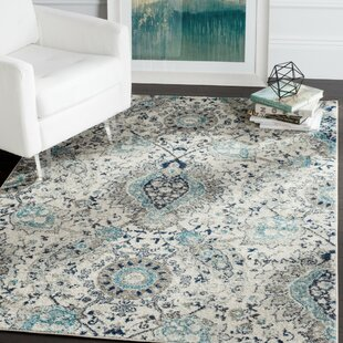 Grieve Power Loomed Light Gray/Cream Area Rug