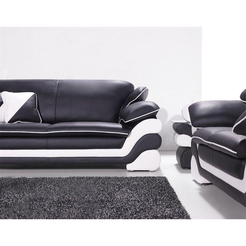 Nan 7 Piece Leather Living Room Set