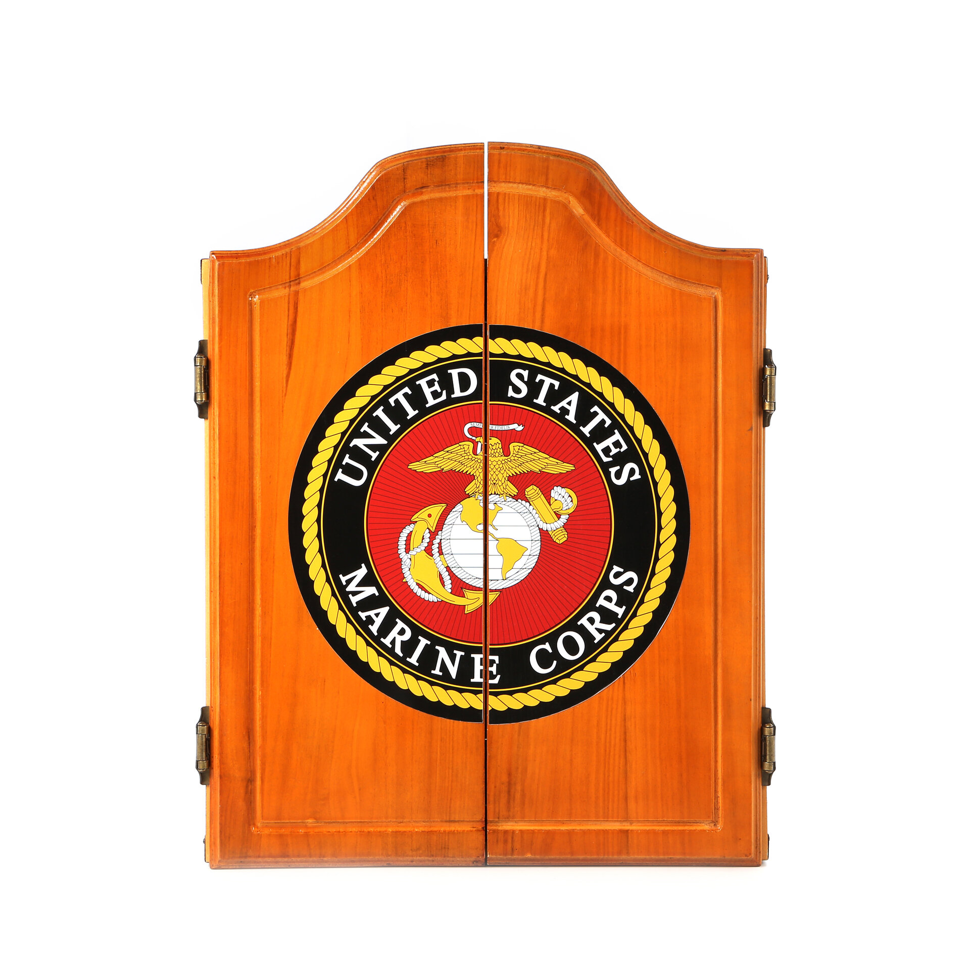 Trademark Global United States Marine Corps Wood Dart Cabinet Set Reviews Wayfair