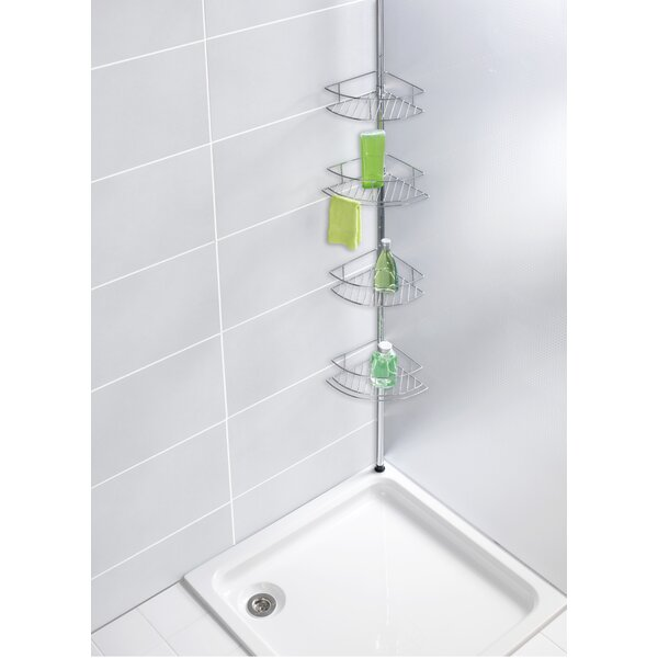 kitchen metro aluminum shelf interdesign caddy stuff shower silver plus