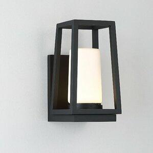 mid century modern outdoor lighting. hurricane 1 light led outdoor sconce mid century modern lighting m