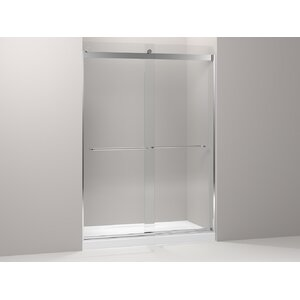 Levity 39.81'' x 86'' Double Sliding Panel and Assembly Kit for Shower Door with CleanCoatu00ae Technology