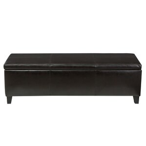 Charlenne Faux Leather Storage Ottoman by Latitude Run