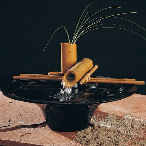 Great Ceramic Nature Bowl Small Tabletop Fountain
