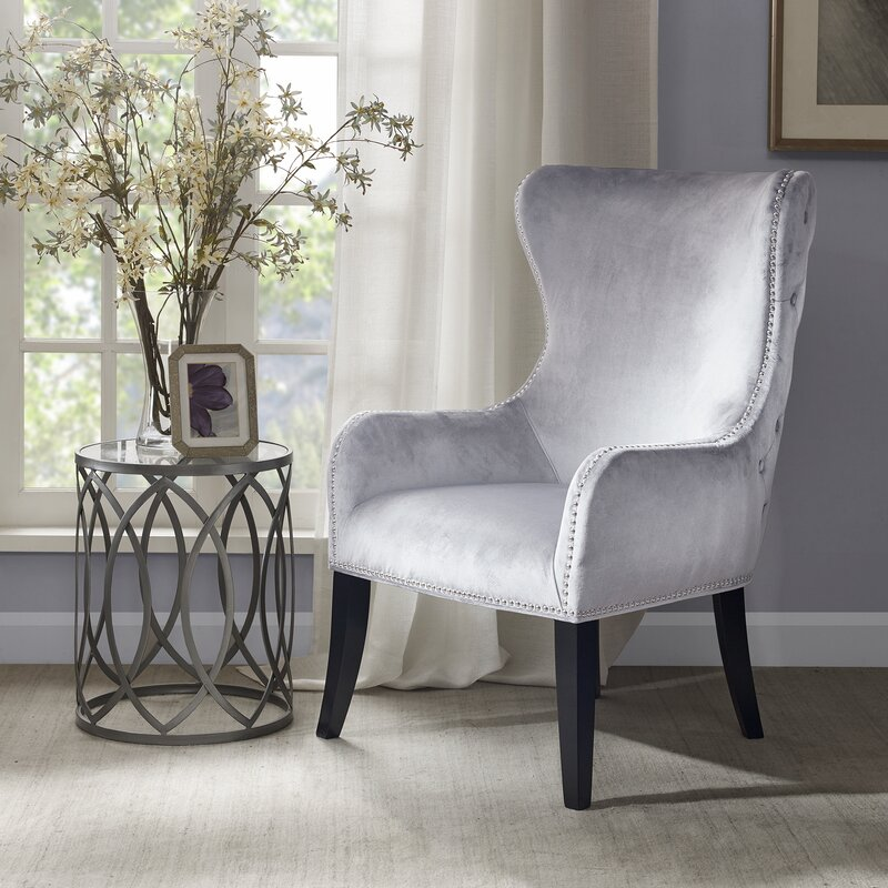 Garrison Button Tufted Wingback Chair