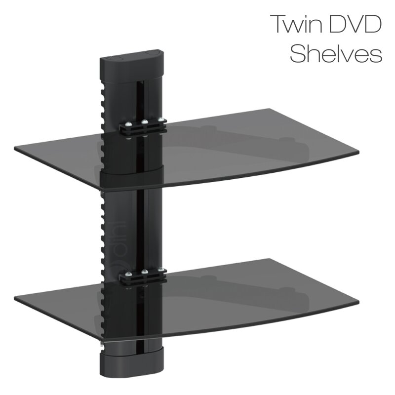 Tv Shelf Part - 38: Double Glass TV Shelf