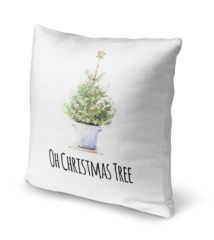 Kavka Oh Christmas Tree Throw Pillow | Wayfair