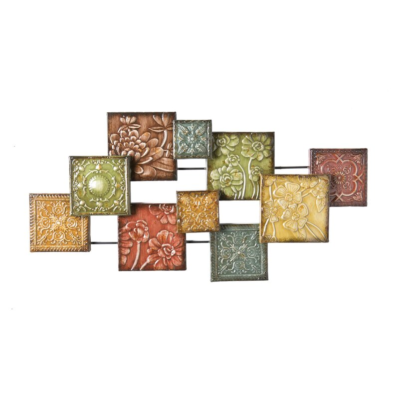 Panel Wall Decor three posts bijou square panel wall décor & reviews | wayfair